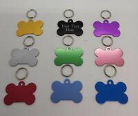 Dog bone pet tags engraved dog tag pet tag free postage