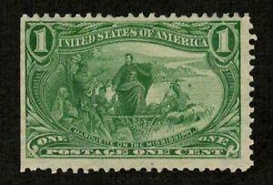 US 1898 #285 - 1c Marquette CV $25 Partial Gum Mint MNH