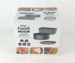 Ninja Foodi Deluxe 3-Piece Bakeware Set Black Deluxe Baking Kit Accessories New