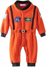 Baby Toddler Boy Orange Astronaut Fleece Costume Jumpsuit Cosplay Baby Clothes
