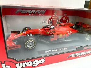 BBURAGO 16807 V or 16807 L FERRARI SF90 F1 car S Vettel or C Leclerc 2019 1:18th
