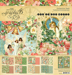 Graphic 45 G45 Joy to the World 12x12 Collection Pack Christmas Angels Hope