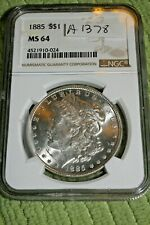 #A1378,Morgan Silver Dollar,1885 MS 64 NGC