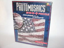 Photomosaics American Flag Puzzle Robert Silvers 529 Pieces New Factory Sealed