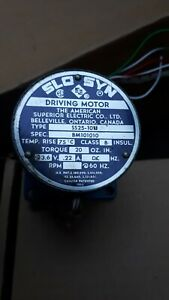 Stepping Driving Motor 23.6 V .22 A SS25-1011 American Superior Elec. Co. 1969