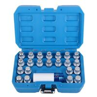 23PCS Anti-theft Wheel Nut Lock Key Screws Removal Socket Set Tool For AUDI VW