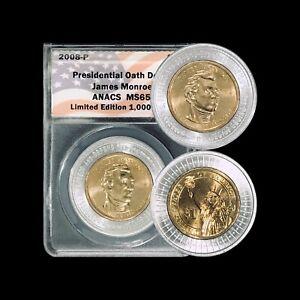 UNITED STATES. 2008, Dollar, P - ANACS MS65 - Presidential, Monroe, RARE