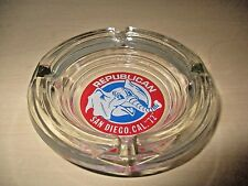 VINTAGE 1972 REPUBLICAN NAT'L CONVENTION SAN DIEGO, CA. GLASS ASHTRAY. NOS.