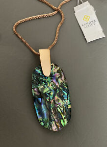 New Kendra Scott Inez Necklace In Abalone $90.00