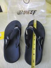 Used REEF flip flops thongs shoes sandals BLACK mens 8 womens 9.5 9 1/2