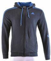 ADIDAS Mens Hoodie Sweater Small Black Cotton  DE25