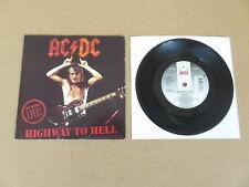 "AC/DC Autopista al Infierno/Hells Bells Atco 7"" Raro 1992 Reino Unido 1ST Pulsar B8479"