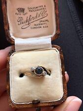 Antique Art Deco 18ct Gold Sapphire & Diamond Cross Over Ring
