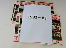 More details for arsenal home programmes complete 1982/83 (x32) (d1/fac/lc/uefa) – mint or exc