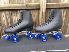 Chicago 405 Quad Roller Rink Classic Skates Mens 6 Womens 8 Black Blue High Top