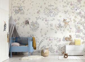 Giant Wall mural Wallpaper Disney baby room Bambi kids room decor NO ADHESIVE