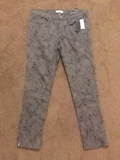 Banana Republic Women's Skinny Fit Gray Patterned Jeans Size 31/12 NWT