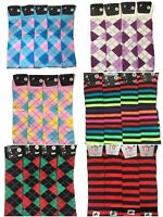 Womens Ladies over knee high equestrian horse riding socks, Bright colours 4-7