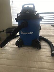 VACMASTER Wet/Dry Vacuum 5 Gallon 3 Peak Model VOC507PF Blue