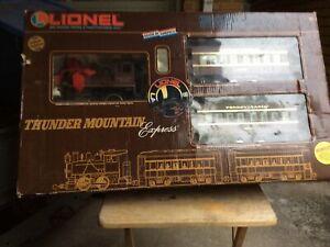 Lionel 8-81001 The Thunder Mountain Express G Gauge Steam Train Set Inbox