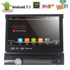 "Single 1 Din 7"" Android 7.1 GPS Flip Car Stereo Radio Player Touch Screen USB SD"