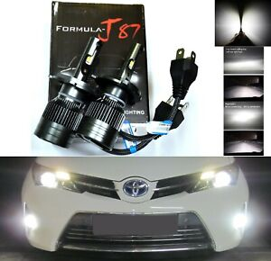LED Kit G8 100W 9003 HB2 H4 4300K Stock Two Bulbs Head Light Dual Beam Upgrade