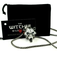 The Witcher Great Bear School Medallion Necklace Pendant Chain Card Gift Bag
