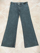 WOMENS FADED BLACK BOOTCUT JEANS + BELT - GAP - 6/8R
