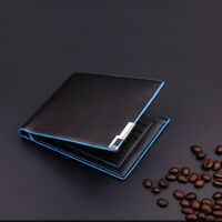 Latest Men Stylish Bifold Business Leather Wallet Card Holder Coin Wallet Purse