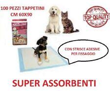 100 Traverse Assorbenti Per Cani 60x90cm Lettiera Tappetini Igienici Tappeti