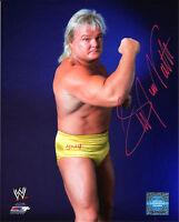 WWE SIGNED PHOTO GREG VALENTINE WRESTLING WWF THE HAMMER