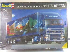 Revell Volvo FH-16 Trailer Blue Rebel OVP 1:24 Bausatz #855