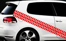 Aufkleber Reifenprofil Reifen Profil Karomuster Race Turbo Karo Sticker 4x4 _
