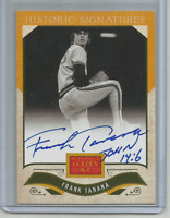Frank Tanana On-Card Auto 2012 Golden Age Historic Signatures Autograph Angels