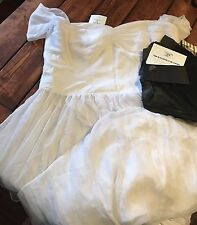 Fame & Partners NWT Blair Plus Size Wedding Dress US Size 22 Pure White $375