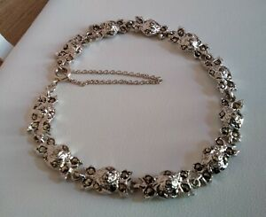 """Vintage Solid Silver Marcasite Bracelet 7"""" with Safety Chain 14.66g Beautiful"""
