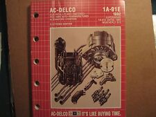 1992 Delco electrical ignition switches wire plugs alternators starters catalog