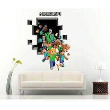 Mine World Multi Character Wall Decal Sticker Theme Home Kids Bedroom Decor