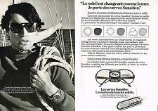 PUBLICITE ADVERTISING 014  1979   SUNSITIVE  lunettes solar ( 2 pages)