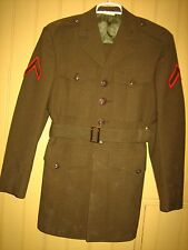 US MARINE CORPS UNIFORM SET~Jacket, Pants,Belt, AND RED & GREEN PATCH~L@@K~