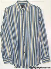 Express Premium Woven Mens 100%Cotton Long Sleeve Button Down Pocket Shirt Large