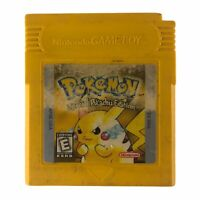 Pokémon Yellow Version Special Pikachu Edition Game Boy Authentic Tested Saves