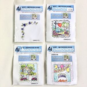 Lot Of 4 Ai Art Impressions Unmounted Window To The World Orig Rubber Stamps NOS