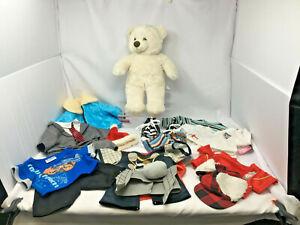Build a Bear Plush Teddy and Assorted Boys Clothing Bundle (PG155T )