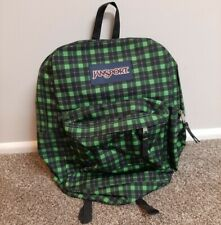 JanSport Green & Black Plaid Backpack - 2 Pockets - In Great Condition!!