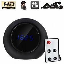 HD Spy Alarm Clock Hidden Camera Remote Motion Detection Mini DVR Video Record