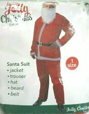 SANTA CLAUS FANCY DRESS OUTFIT FATHER CHRISTMAS DRESSING UP COSTUME FULL SUIT