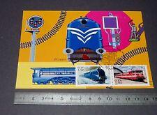 CARTE POSTALE 1er JOUR PHILATELIE 2001 TRAIN MALLARD CAPITOLE CHEMIN DE FER SNCF