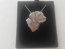 A4 Labrador della testa su un Argento Sterling 925 collana realizzata a mano 20 POLLICI CATENA