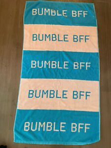 Bumble Dating App Rare Beach Towel Blue Pink Bumble Bff Merch Large Authentic
